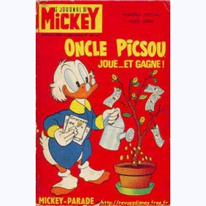 Mickey Parade : n° 6, 0807 : Oncle Picsou joue ... et gagne