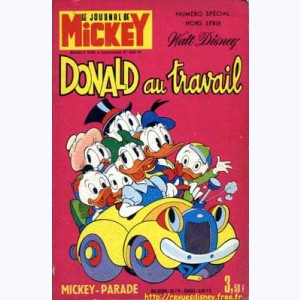 Mickey Parade : n° 23, 1029 : Donald au travail