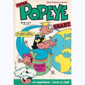"Super Popeye Géant : n° 2, Popeye fait ""cra...taire"" le volcan"